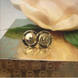Gold studded Michael Kors Statement earrings